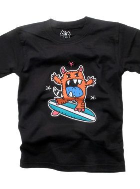 Wes And Willy Monster Surf SS Tee - Black