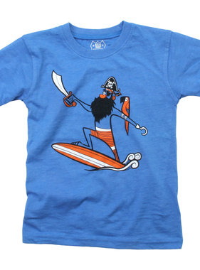 Wes And Willy Pirate Surf SS Tee - UC Blue