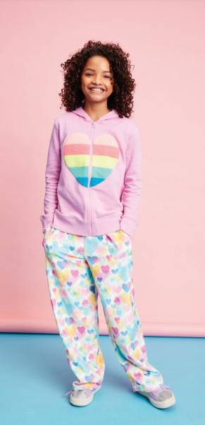 Iscream 820-1440 Pastel Hearts Plush Pants