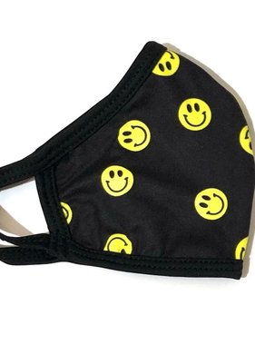 Face Mask CRZ Face Maske Smiley Black