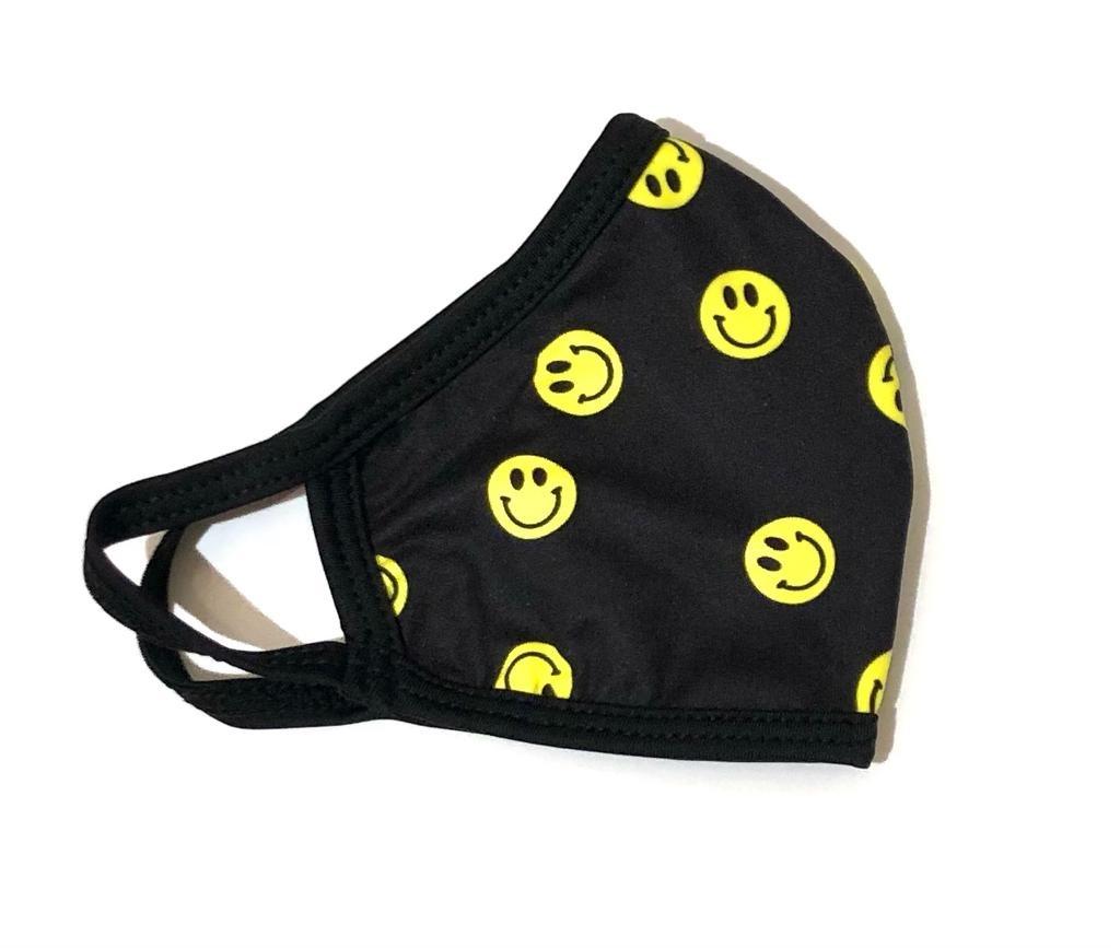 Face Mask CRZ Face Maske Smiley Black