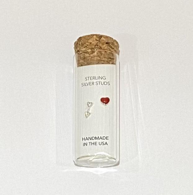 Little Miss Zoe Stud Earrings In A Bottle - Heart & Arrow