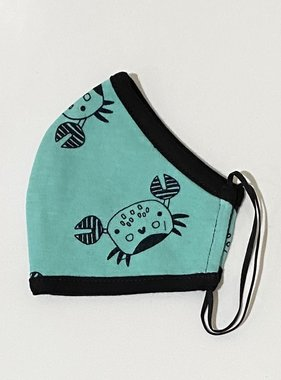 Face Mask PKP Kids Face Mask Happy Crab, Teal