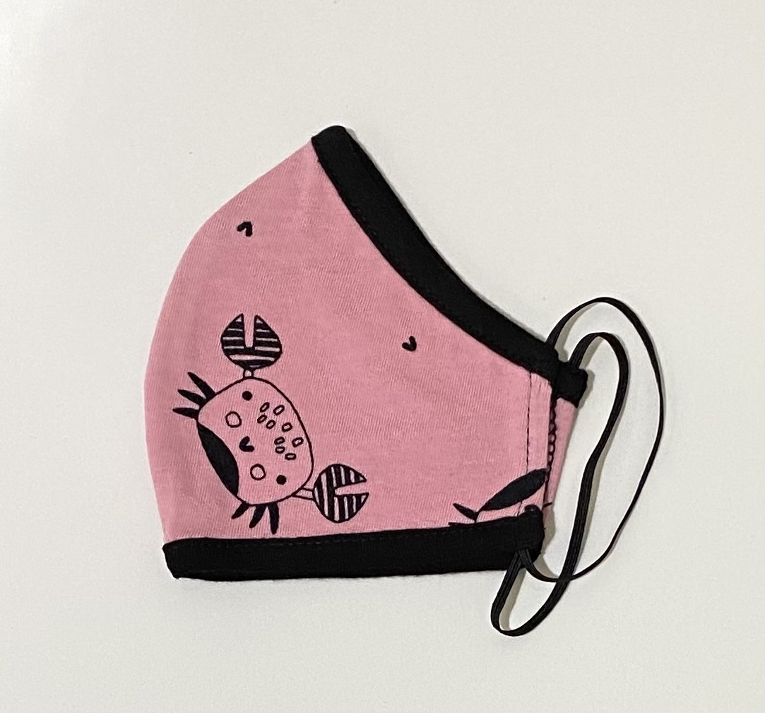Face Mask PKP Kids Face Mask Happy Crab - Coral