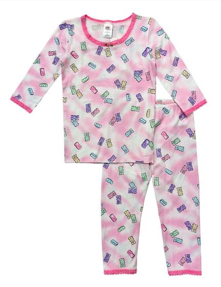 "Esme 3/4"" Sleeve Top/Leggings-Shimmer Candy Bears"