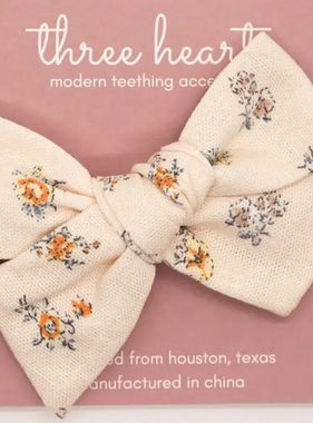 Three Hearts Hazel Headband Bow - Butter Yellow