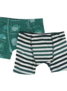 Kickee Pants Boxer Briefs Set (Cedar Crab Types & Wildlife Stripe