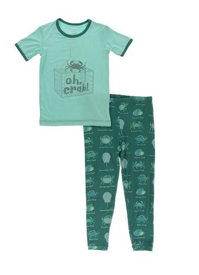 Kickee Pants S/S Pajama Set Cedar Crab