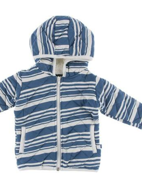 Kickee Pants Print Quilted Jacket with Sherpa-Lined Hood-FishingStripe/Stone Paddles and Canoe