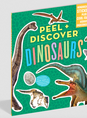 Workman Publishing Co Peel & Discover-Dinosaurs