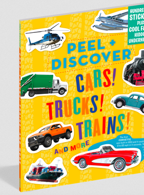 Workman Publishing Co Peel & Discover-Cars Trucks Trains
