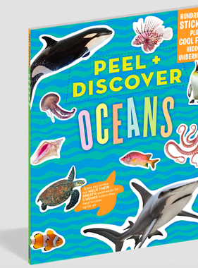 Workman Publishing Co Peel & Discover-Oceans