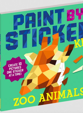 Workman Publishing Co Paint By Sticker Kids: Zoo Animals