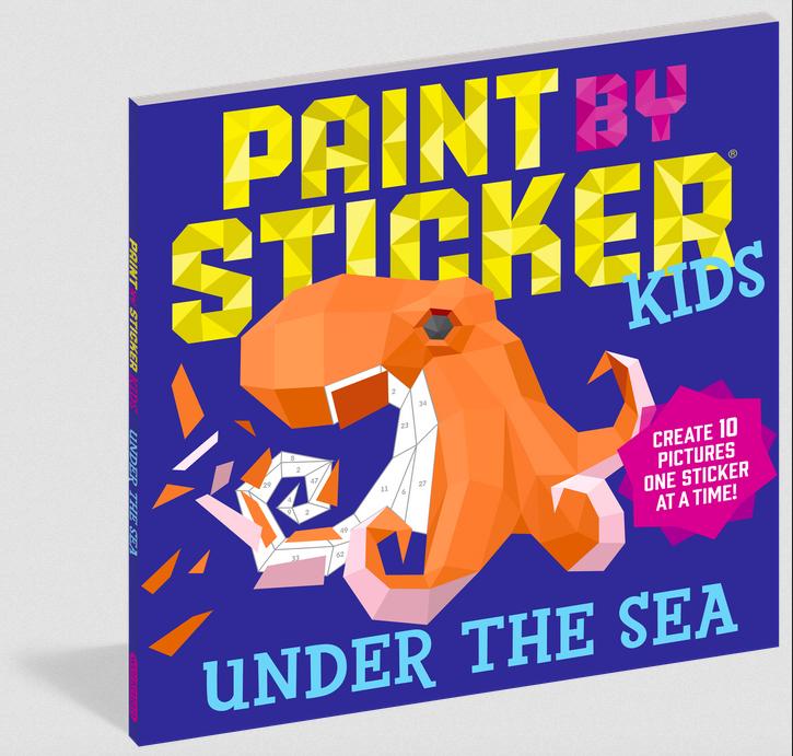 Workman Publishing Co Paint By Sticker Kids: Under the Sea