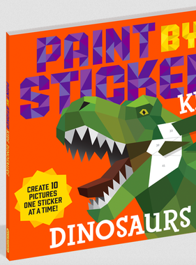 Workman Publishing Co Paint By Stickers-Dinosaur