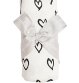 Angel Dear Hearts Swaddle Blanket Black And White 45 x 45