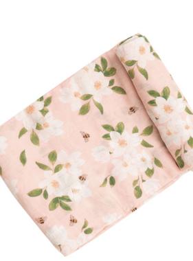 Angel Dear Magnolia Muslin Swaddle Blanket Pink