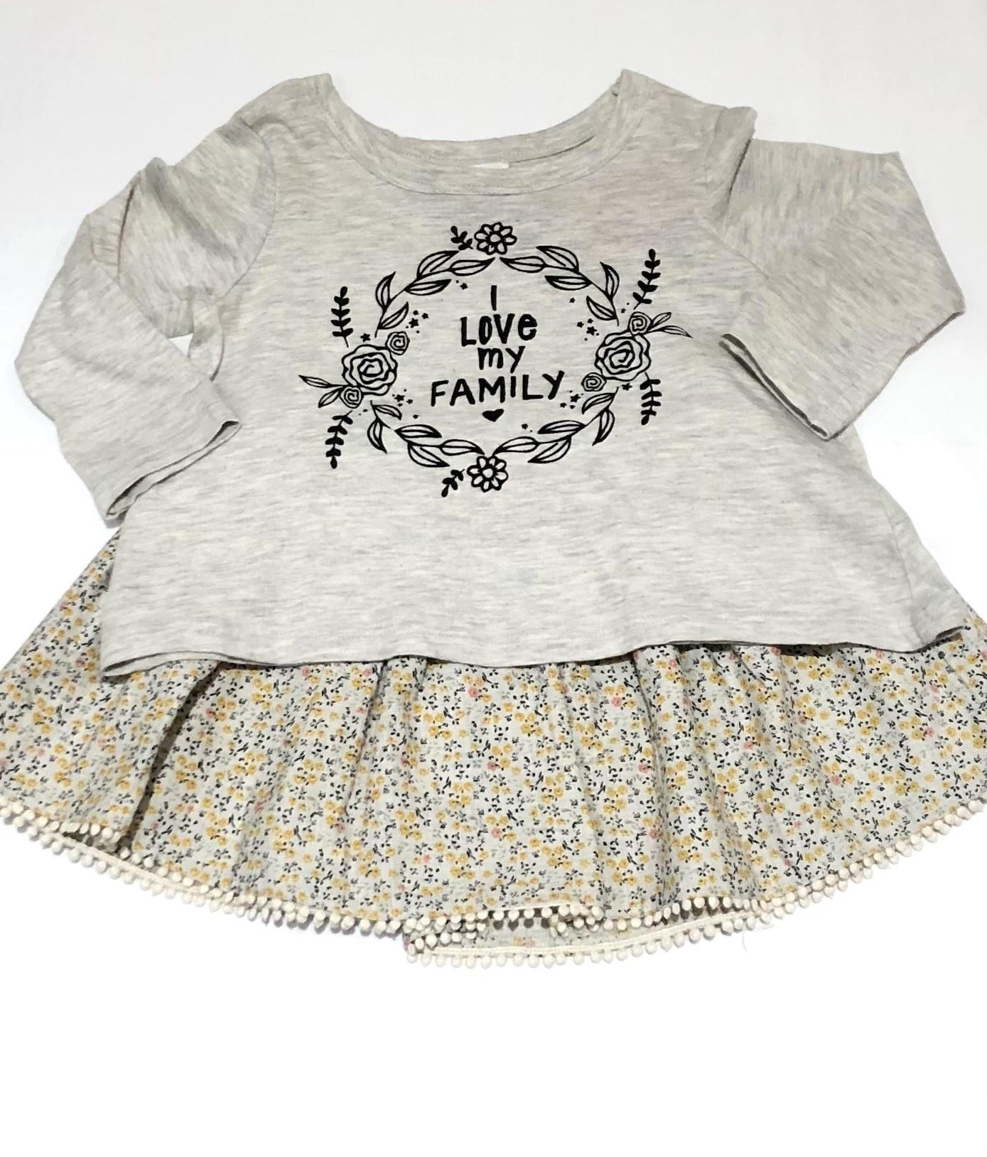 Mimi & Maggie 2341-GRY Filipa Tee/Skirt 2pc Set, Grey