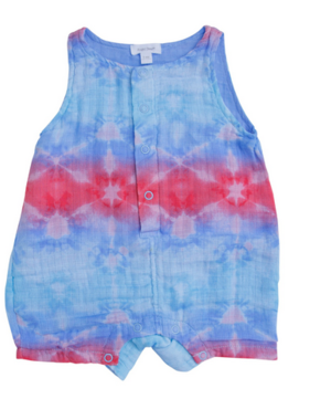Angel Dear Shibori Multi Shortie Romper
