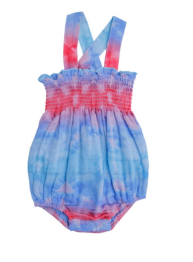 Angel Dear Shibori Multi Smocked Sunsuit Multi