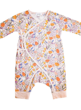 Angel Dear Springtime Floral Wrap Coverall Multi