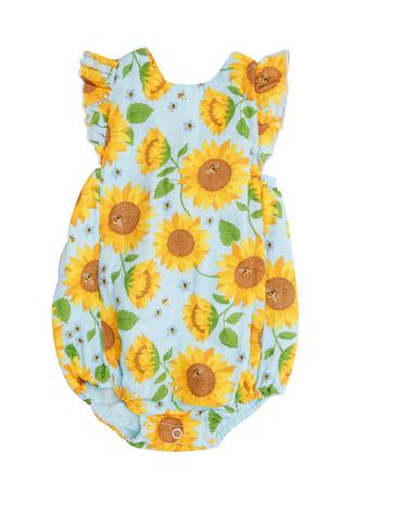 Angel Dear Sunflowers Sunsuit Whispering Blue