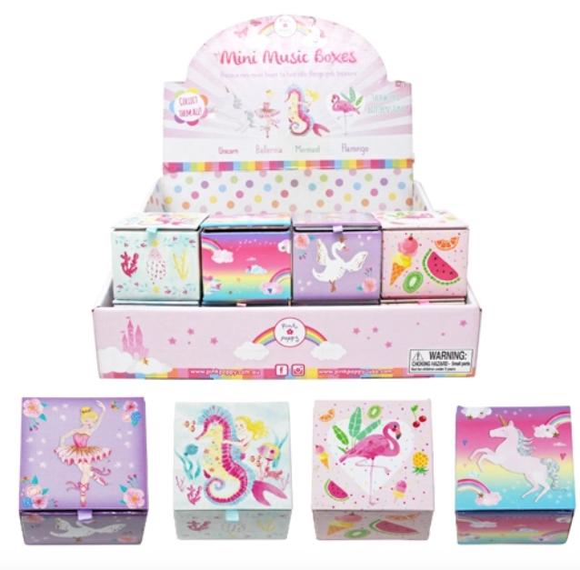 Pink Poppy Mini Music Box-Wish Upon A Starfish