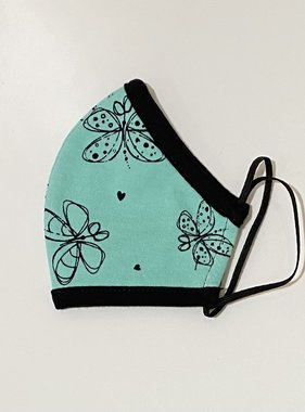 Face Mask PKP Kids Face Mask Butterfly, Teal