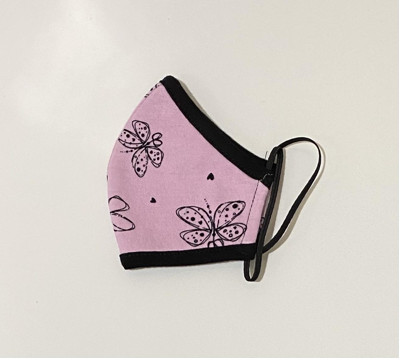 Face Mask PKP Kids Face Mask Butterfly, Peony Pink