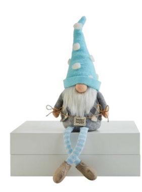Mudpie HAPPY SIGN DANGLE LEG GNOME