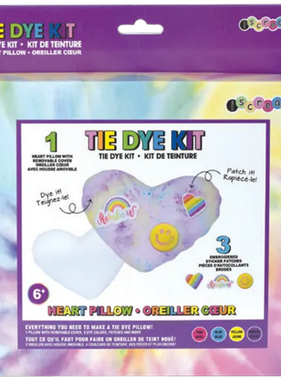 Iscream 770-223 Heart Pillow w Patches Tie Dye Kit