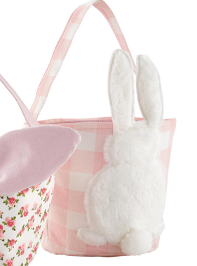 Mudpie PINK GINGHAM EASTER BASKET