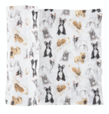 Mudpie FRENCHIE SWADDLE BLANKET