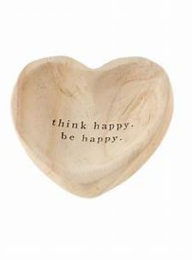 Mudpie THINK WOOD HEART TRINKET TRAY