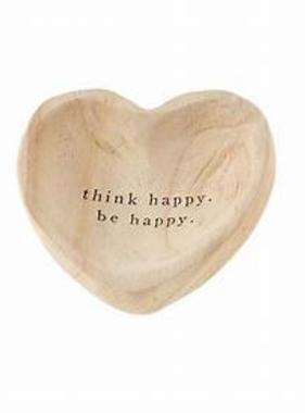 Mudpie THINK WOOD HEART TRINKET TRAY
