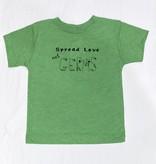 Bella Beach Kids Spread Love not Germs T-Green