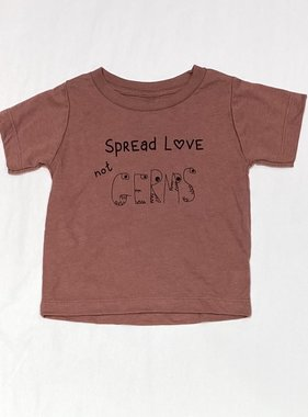 Bella Beach Kids Spread Love not Germs T-Mauve