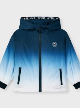 Mayoral 3419 04 Dip Dye Windbreaker Jacket, Nautical