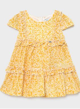 Mayoral 1978 046 Voile Dress, Mustard