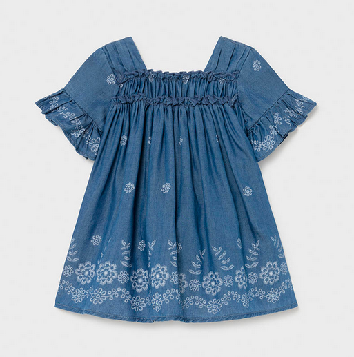 Mayoral 1981 05 Denim Dress, Denim