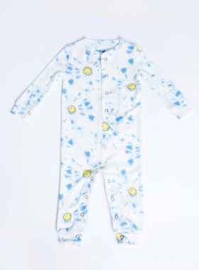 PJ Salvage Kids RXKTD SMILEY Romper Peachy Blue