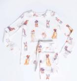 PJ Salvage Kids Kids PJ DOG Set Peachy, Ivory