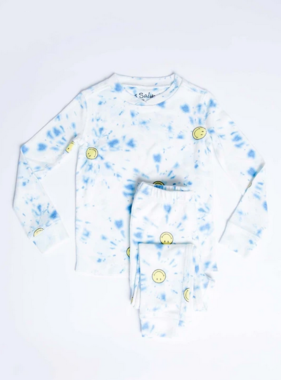 PJ Salvage Kids RXKTD SMILEY Kids PJ Peachy Blue