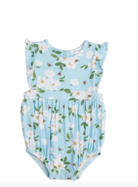 Angel Dear Magnolia Blue Ruffle Sunsuit Blue