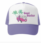 Grom Squad Soul Surfer Trucker Hat, Lav/White