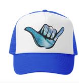 Grom Squad Shaka Wave Trucker Hat, Royal/White