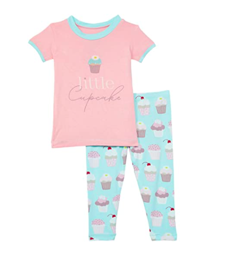Kickee Pants S/S Pajama Set-Summer Sky Cupcakes