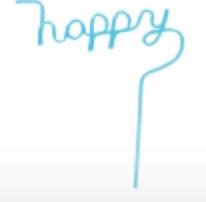 Iscream 870-116  Word Shaped Straws