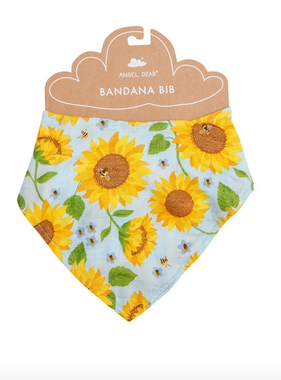 Angel Dear Sunflowers Bandana Bib Whispering Blue