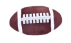 Iscream 780-1242 Football Large Squishie